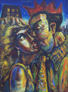 Peter Howson, 'The Kiss', ca. 1984
