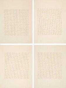 James Hugonin, 'Ode: For Basil Bunting', 1986