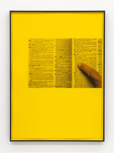 Ignasi Aballí, 'Filter CMYK (Yellow)', 2018