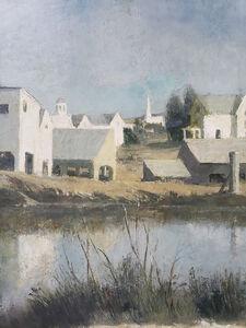 John Koch, 'Vermont Barns - Neutral Monochromatic Study in Grays', ca. 1930's