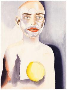 Francesco Clemente, 'Self-Portrait with Lemon Heart', 2008