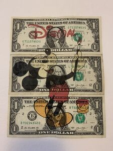 "After Banksy, 'BANKSY DISMALAND US DOLLAR ""MICKEY MOUSE"", REAL CURRENCY DOLLAR', 2015"