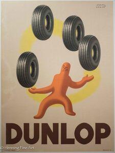 Paul Colin, 'Dunlop Tire - Tire Juggler', ca. 1945