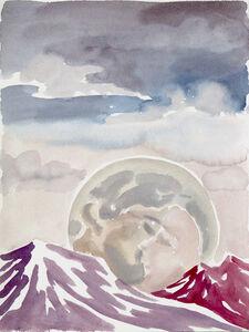 Freya Douglas-Morris, 'The kissing moon (paper)', 2019