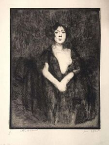 Albert Besnard, 'Le Modèle au Manteau Noir', 1925