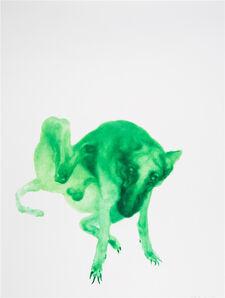 Zhou Chunya 周春芽, 'Green Dog', 2016