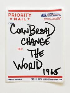 Cornbread, 'Postal Label Series: Change the World 1965', 2020