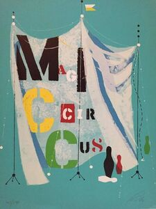Wolfgang Roth, 'Rare Wolfgang Roth Dada Bauhaus Circus Silkscreen Print 2', 20th Century