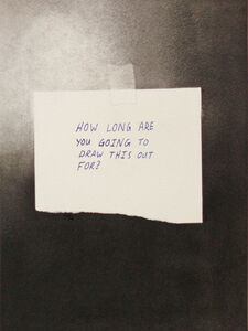 Kyle Beal, 'How Long Are You Going To Draw This Out For', 2012