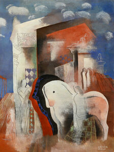 Bela Kadar, 'Horses and Figure', ca. 1930