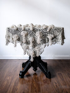 Caitlin McCormack, 'White Dick Tablecloth', 2019