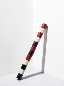 André Cadere, 'Barre de bois rond noir, blanc, rouge', 1975