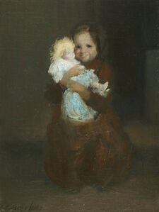 George Benjamin Luks, 'Child with Doll', ca. 1905