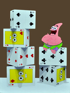 Byungtaek Jeon, 'The tower of card - Patrick Star', 2015