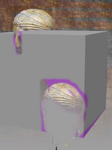 Andrey Bogush, 'Proposal for duplicated head, purple and grey default cube (ver.2)', 2015