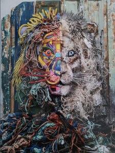 Bordalo II, 'Half Lion Copy (HC non-commercial)', 2019