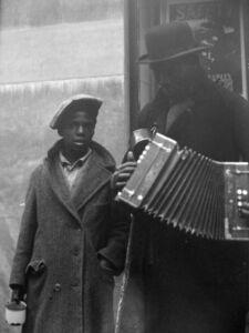 John Albok, 'Blind Musician and Son, Harlem', 1931