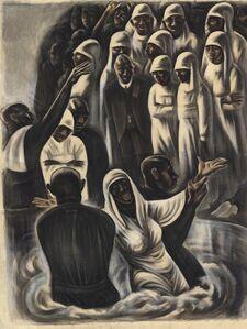 Howard N. Cook, 'Alabama Negro Baptism.', ca. 1934