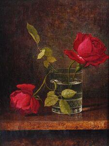 Martin Johnson Heade, 'Red Roses', ca. 1870