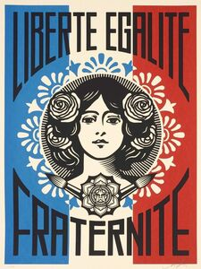 Shepard Fairey, 'Liberté Egalité Fraternité Numbered and signed', 2016