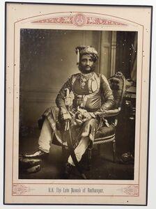 Raja Deen Dayal, 'The Late Nawab of Radhanpur', ca. 1890