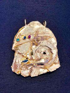 Igael Tumarkin, 'Gold Gilt Bronze Sculpture Necklace Art Israeli Tumarkin Abstract Surrealist ', 1960-1969