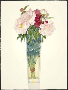 Gary Bukovnik, 'Peony in Tall Vase ', 2018