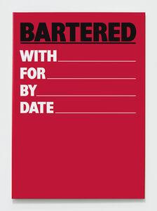Billy Apple, 'Bartered', 1984-2018