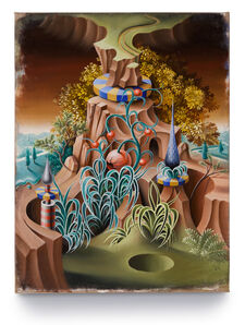 Peter Daverington, 'The Ecclesiastical Garden and the Sink Hole', 2016