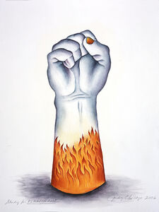 Judy Chicago, 'Study for Flaming Fist', 2006