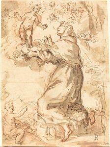 Elisabetta Sirani, 'Saint Francis Adoring the Christ Child'