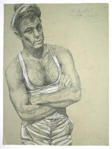 "Jürgen Draeger, 'Matrose Brad Davis (""Querelle""-Zyklus)', 1982"