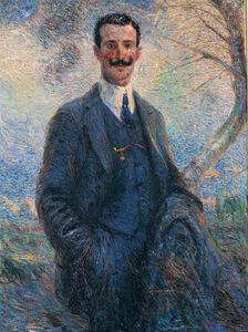 Carlo Carrà, 'Autumn (Portrait of Emilio Colombo)', 1909