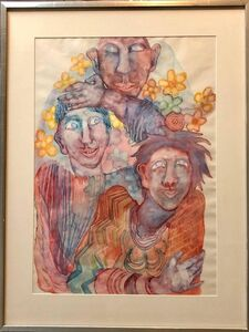 Heimrad Prem, 'Surrealist fantasy Watercolor Painting Viennese Expressionist', 1970-1979