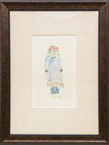 Ryuzaburo Umehara, 'A girl in folk costume ', ca. 1990