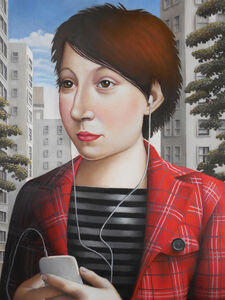 Amy Hill, 'Woman with iPod', 2019