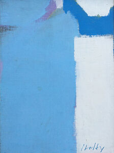 Carl Holty, 'White & Blue', 1972