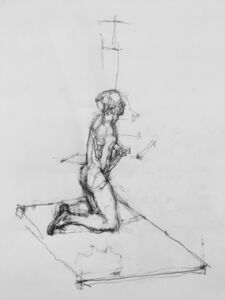 William Boyd Woods, 'Kneeling Male Nude', 2018