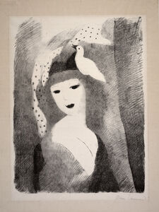 Marie Laurencin, 'Girl with Bird', ca. early 20th century