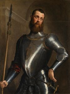 Jacopo Bassano, 'Portrait of a Man in Armour', ca. 1560