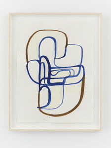 Joanna Pousette-Dart, 'Untitled Brown + Blue', 2016