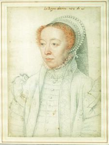 François Clouet, 'Portrait of Catherine de Médici', 1550