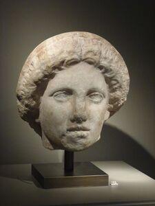 Ancient Greek sculptor, 'Marble head of a Greek goddess ', ca. 360 BCE