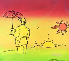 Peter Max, 'UMBRELLA MAN (2 SUNS)', ca. 1990