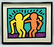 Keith Haring, 'Best Buddies (from Pop Shop I)', 1987
