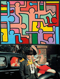 Bonnie Lautenberg, '1988, Who Framed Roger Rabbit - Keith Haring, Untitled', 2018