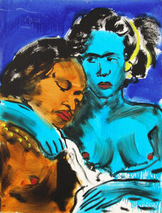 Luciano Castelli, 'Blue Lovers', 1989