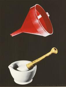 Tim Mara, 'Plastic Funnel, Mortar And Pestle', 1992
