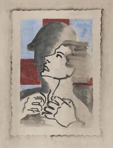 Paul Colin, 'Portrait d'homme de profil'