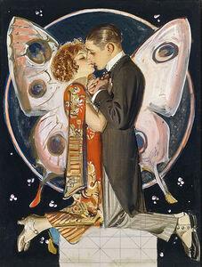 Joseph Christian Leyendecker, 'Study for Butterfly Couple ', 1923
